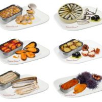 Gourmet canned fishs and seafoods